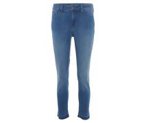 """Jeans """"Nichelle"""", Slim Fit, Fransen, Blau"""