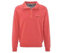 Sweatshirt, Baumwolle, wattierte Blenden, Rot