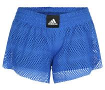 Shorts, Lagen-Design, Mesh, Training, für Damen, Blau