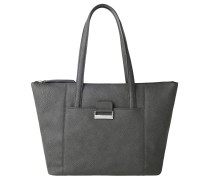 "Shopper ""Talk Different II"", Leder-Optik, Grau"