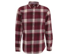 Freizeithemd, Comfort Fit, Baumwolle, Button-Down-Kragen, Rot