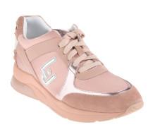 "Wedge Sneaker ""Miranda"", Strass, Keilabsatz, Rosa"