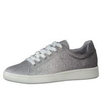 Sneaker, Schnürung, Metallic-Look, Silber