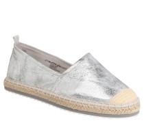 Espadrilles, Metallic-Look, Textil, Silber