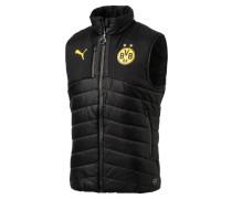 Weste, BVB-Emblem, Regular Fit, Stehkragen, Schwarz