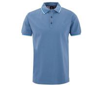 Poloshirt, reine Baumwolle, Farbakzente, Blau