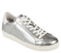 Sneaker, Metalic-Look, Leder