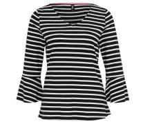 """Shirt """"Punta"""", 7/8-Arm, Trompetenärmel, Streifenmuster, V-Ausschnitt, Mehrfarbig"""