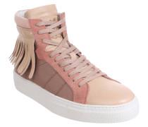 Sneakers, Fransen, Leder, Mehrfarbig