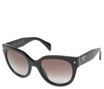 """Sonnenbrille """"PR 17OS"""", schwarz-grau, Retro-Stil, Verlaufsgläser"""
