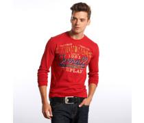 Sweatshirt, melierte Optik, Rippstrickbündchen, Türkis