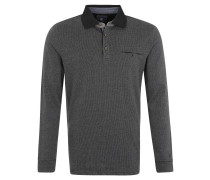 Langarm-Poloshirt, Kontrastkragen, Melange