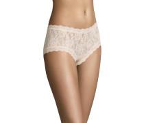 Panty, transparent, Spitzen-Design, Rosa