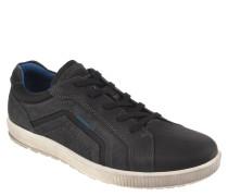"""Sneaker """"Ennio"""", Leder, textile Details, Ziernähte, Schwarz"""