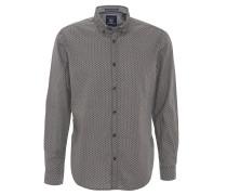 Freizeithemd, Button-Down-Kragen, reine Baumwolle, Grau
