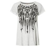 "T-Shirt ""Jill"", Front-Print, Grau"
