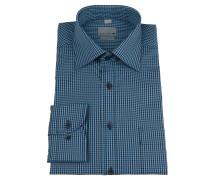 Businesshemd, kariert, bügelfrei, Baumwolle, Blau