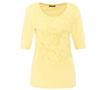 T-Shirt, Blumenmuster, Strasssteine