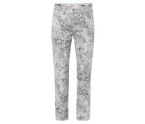 "Jeans ""Cici"", Spitzen-Motiv, K-Größe, Schwarz"
