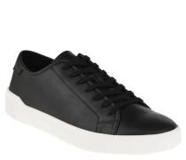 "Sneaker ""Haener"", Glattleder, robuste Verarbeitung, Schwarz"