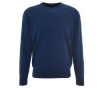 Pullover, Rundhalsausschnitt, reine Baumwolle, Blau