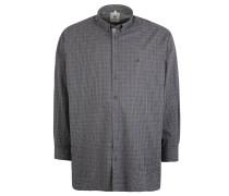 Freizeithemd, gemustert, Baumwolle, Große Größen, Grau