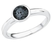 Ring 2018662, mit Swarovski Kristall, grau,  925