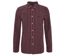 Freizeithemd, Slim Fit, Baumwolle, Button-Down-Kragen, Rot