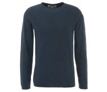 Pullover, uni, strukturiert, Blau