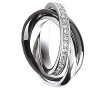 Ring 3-reihig, mit Kristallen 430070021