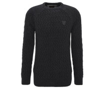 Pullover, Strick, Wolle-Mix, Grau
