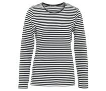 Langarmshirt, gestreift, zweifarbig, Baumwoll-Mix, Blau