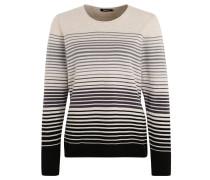Pullover, Farbverlauf, Streifen, gerollter Saum, Beige
