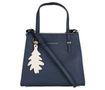 "Handtasche ""Modern"", Saffiano-Optik, Anhänger, Blau"