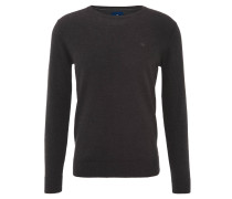 Pullover, schmal geschnitten, Baumwolle, Rippbund,, Grau