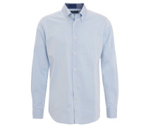 Freizeithemd, Tailored Fit, Button-Down-Kragen, uni