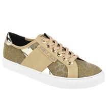 Sneaker, Effekt-Garn, Leoparden-Print, Gold