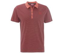 Poloshirt, gestreift, Knopfleiste, Baumwolle, Rot