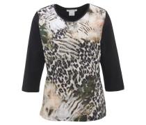 T-Shirt, 3/4-Ärmel, Mustermix, Strass, für Damen, Mehrfarbig