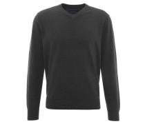 Pullover, Feinstick, meliert, V-Ausschnitt