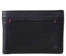 Brieftasche, Leder, Zierstiche, Schwarz