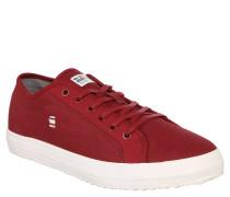 "Sneaker ""KENDO"", Uni, Fischgrät-Muster, Rot"