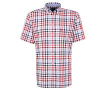 Freizeithemd, Kurzarm, Button-Down-Kragen, Rot