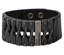 Armband Biker Leder schwarz mit Metall DXM0579040