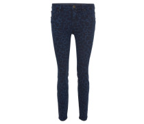 "Jeans ""Antonia"", Skinny Fit, Animal-Print, Blau"