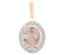 Kette mit Anhänger Rosegold 585 mit Diamanten