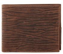 Geldbörse, Leder, Struktur-Muster, Braun