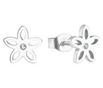 Damen-Ohrringe Blume mit Swarovski® Kristallen
