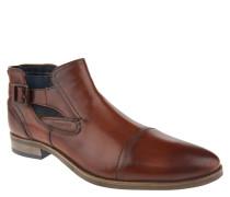 Stiefel, Chelsea-Stil, Schnalle, Reißverschluss, Braun