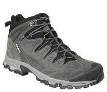 Trekking-Schuh, Leder, stabiler Halt, Grau